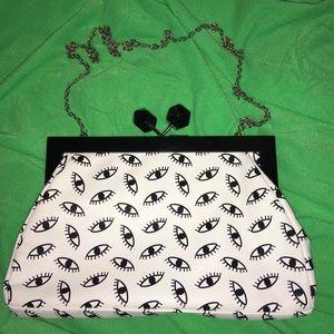 Handbags - Laje Eye Clutch w/ Removable Chain Strap!
